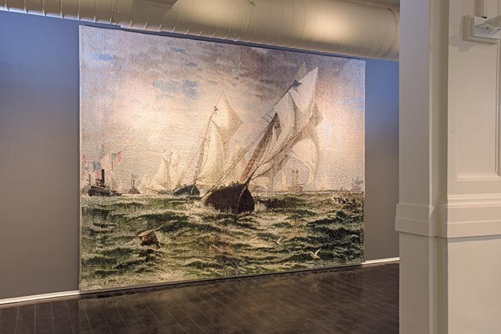 New York Bay 1884 by Helena Hernmarck
