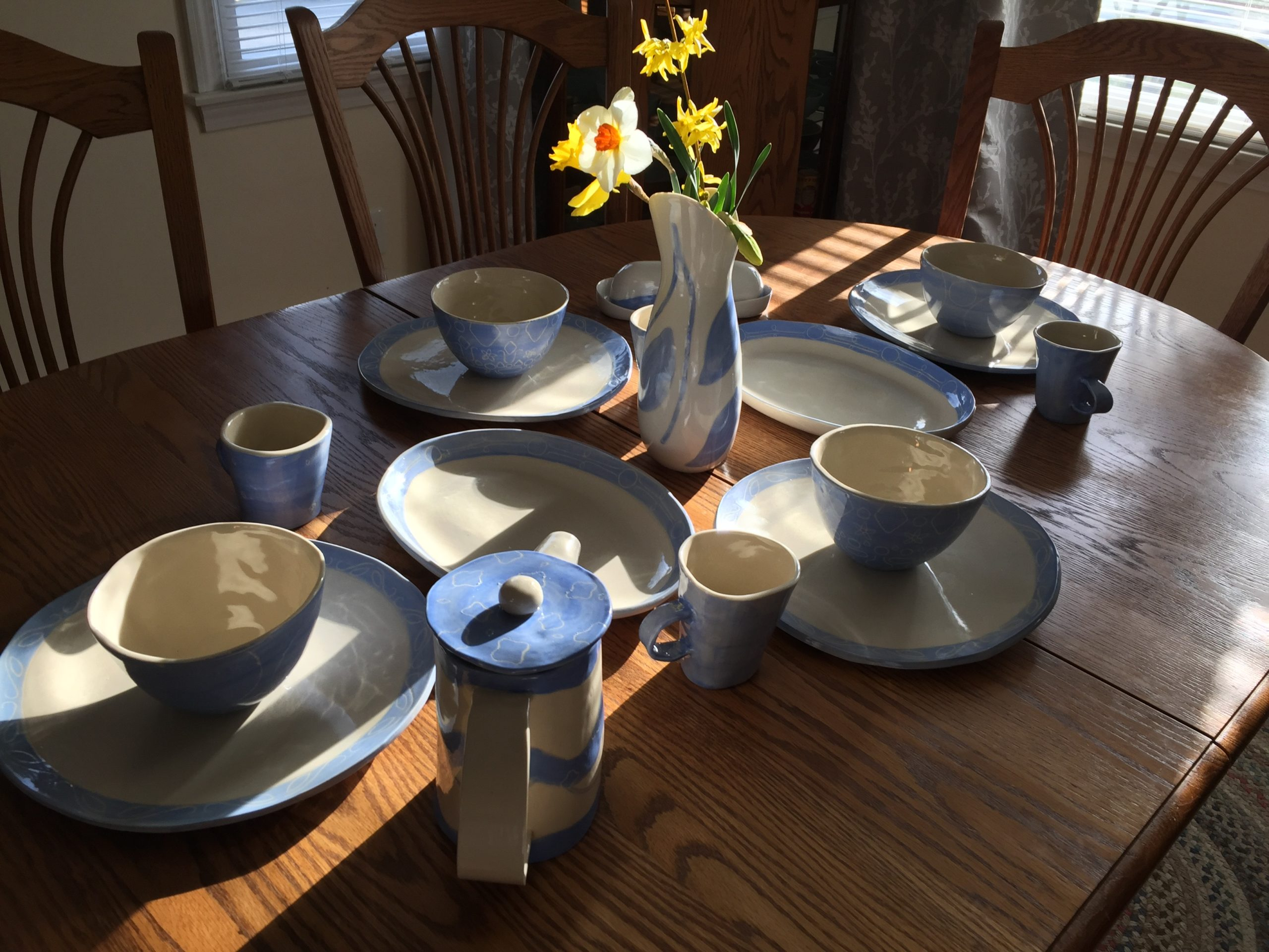 """""""Sabah"""" is Arabic for morning. My final piece is a table setting for breakfast for a family of four."""