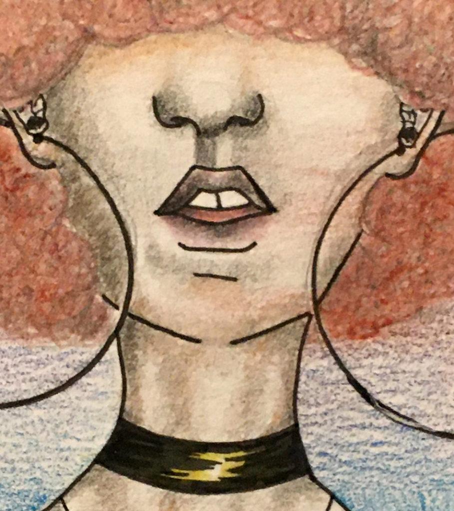Portrait 2 (orange hair) detail