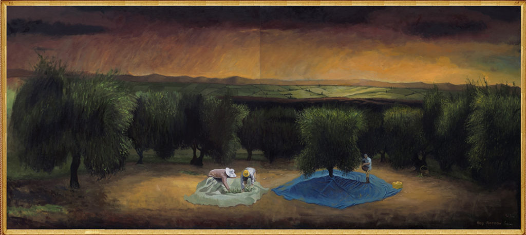 Olive Grove Diptych