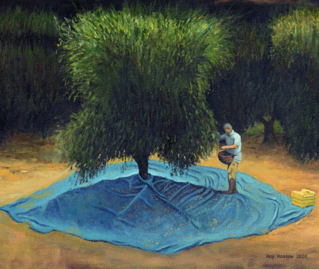 Olive Grove Diptych (detail)