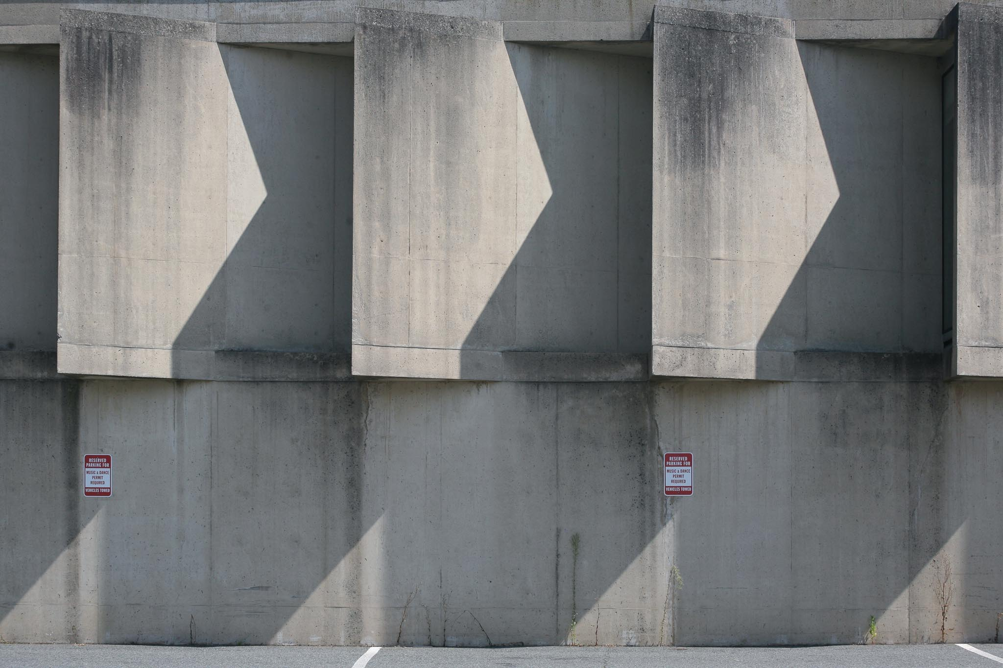 Beauty in the Beast - Photography of Brutalist Architecture; UMASS Amherst (Rhythm II)